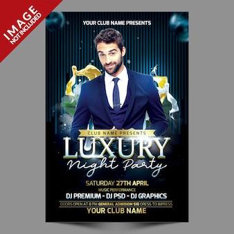 Flyer de soirée de luxe