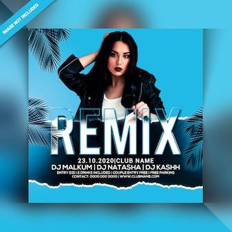Flyer de soirée remix