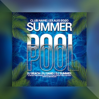 Flyer summer pool party