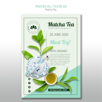 Flyer thé matcha bio