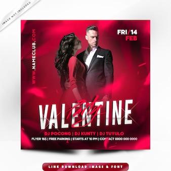 Flyer valentine premium