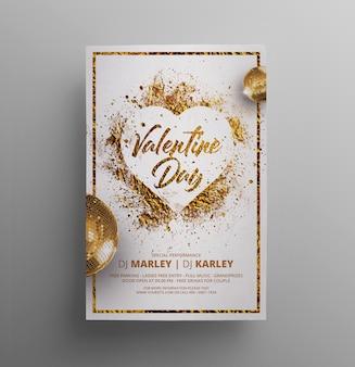 Flyer valentine splatter gold