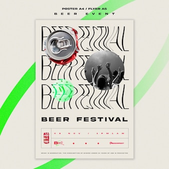 Flyer vertical pour le festival de la bière