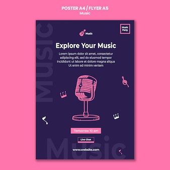 Flyer vertical pour fête de la musique
