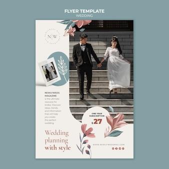 Flyer vertical pour mariage floral