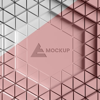 Fond 3d triangulaire