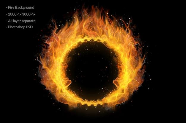 Fond d'anneau de feu