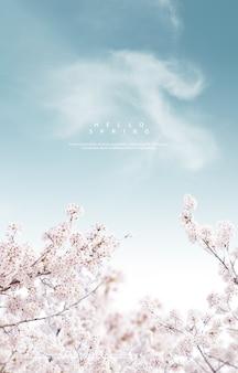 Fond de belles fleurs de printemps