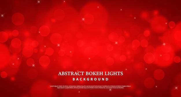 Fond d'effet de lumière bokeh rouge abstrait.