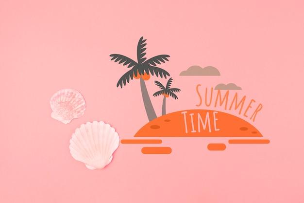 Fond d'été en corail vivant