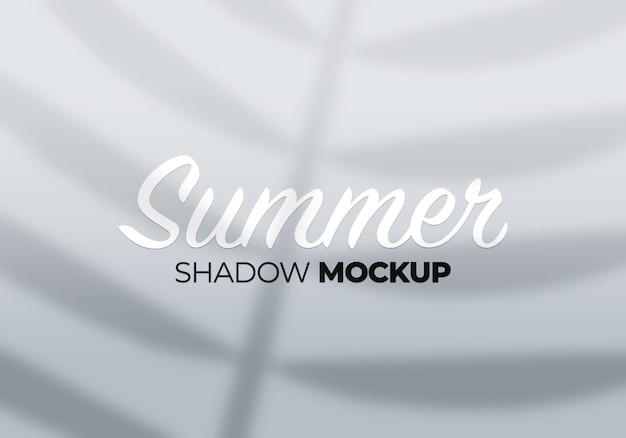 Fond d'été de feuilles de maquette d'ombres
