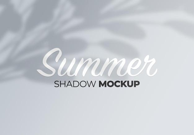 Fond d'été de la maquette des ombres