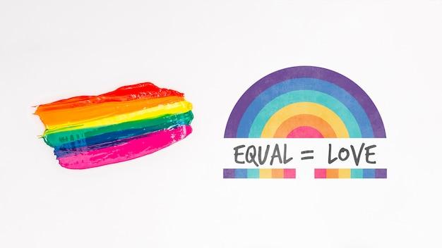 Fond de fierté gay avec des éléments
