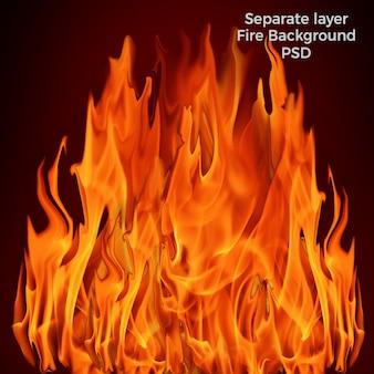 Fond de flammes brûlantes