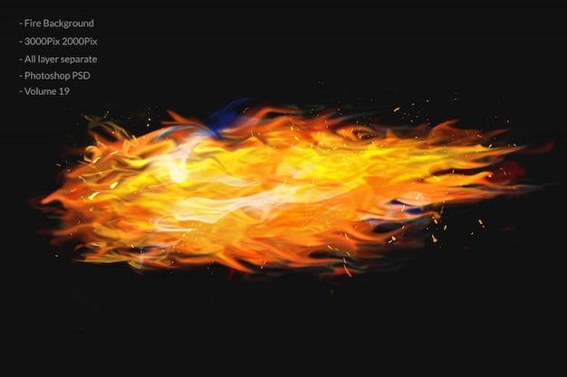 Fond de flammes de feu