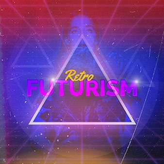 Fond de futurisme rétro