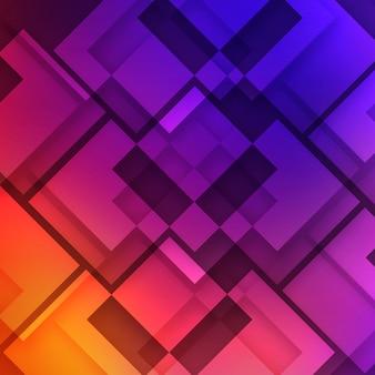 Fond géométrique multicolore