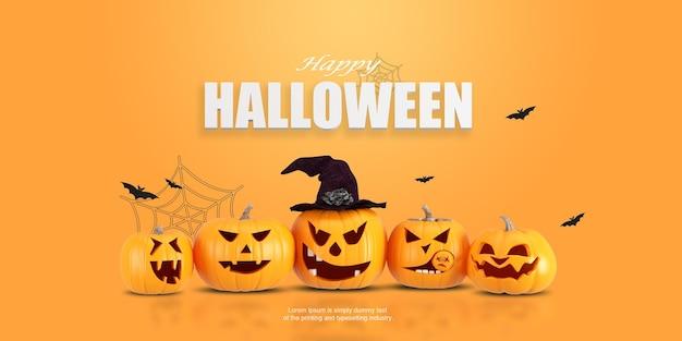 Fond d'halloween décoratif avec citrouille