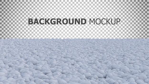 Fond de maquette pour jardin de couleur blanche
