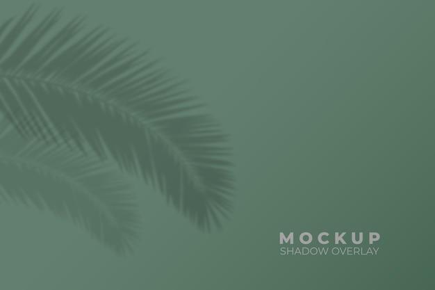Fond avec maquette de superposition d'ombre de feuilles tropicales