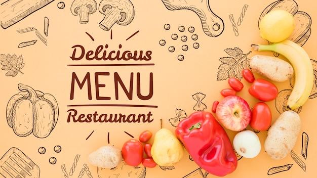 Fond de menu délicieux avec espace de copie