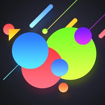 Fond multicolore sur les formes