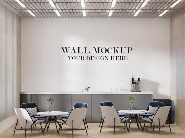 Fond de mur de l'espace commun du bureau