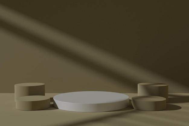 Fond de scène podium 3d minimaliste avec ombre