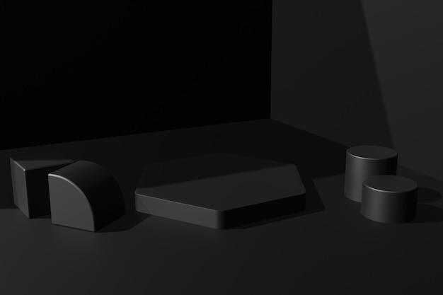 Fond de scène de podium de rendu 3d élégant simple