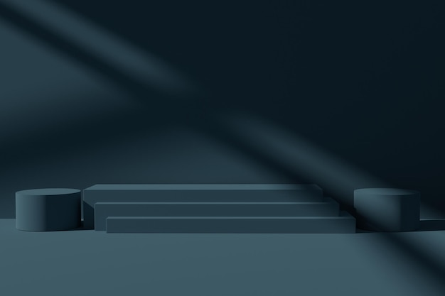 Fond de scène de podium de rendu 3d minimaliste