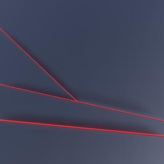 Fond sombre avec des lignes de néon rouges