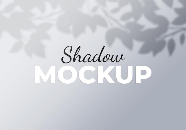 Fond de superposition d'ombre de feuilles d'arbre