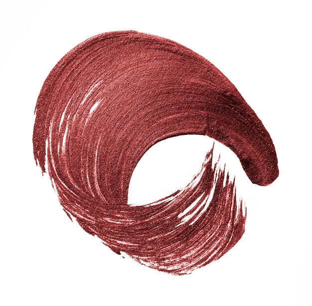 Fond de trait de pinceau rouge