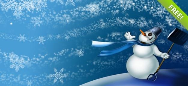 Fonds d'hiver snowman