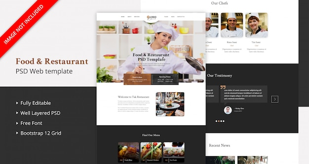 Food & restaurant landing page