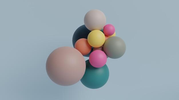Forme colorée de boule dans le rendu 3d