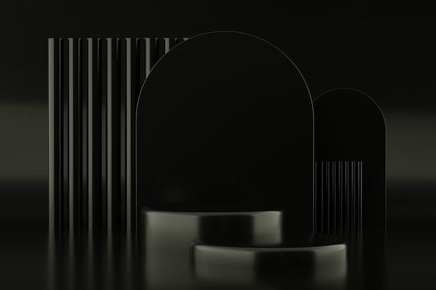 Forme géométrique abstraite de couleur noire