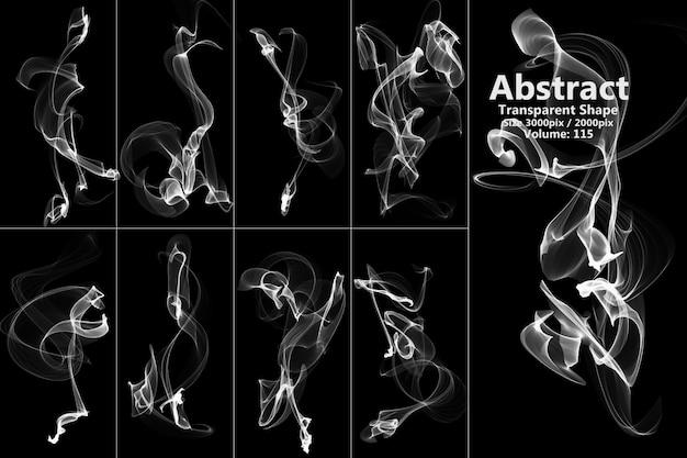 Forme isolée de flammes abstraites