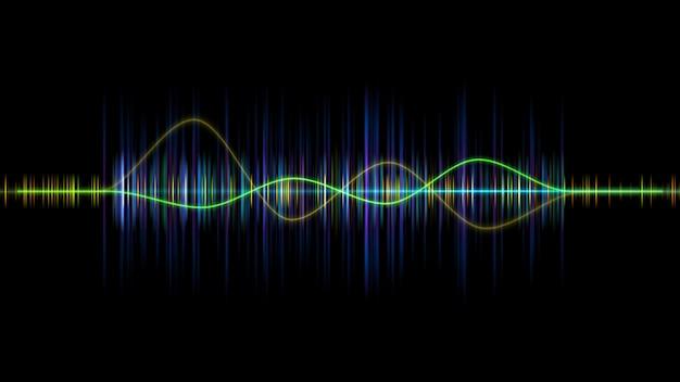 Forme d'onde d'égaliseur de musique audio de fréquence,
