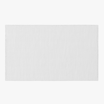 Forme de tapis rectangle isolé