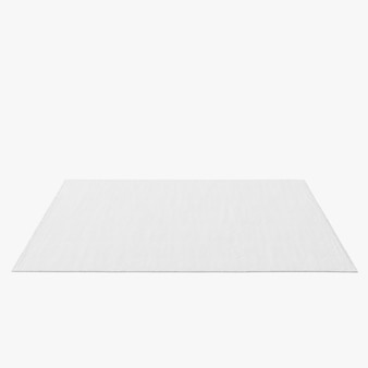 Forme de tapis rectangle isolé