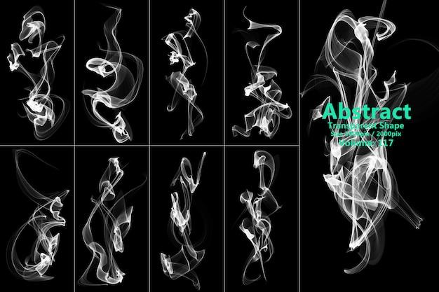 Forme transparente de fumée