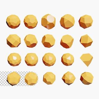 Formes géométriques 3d psd premium