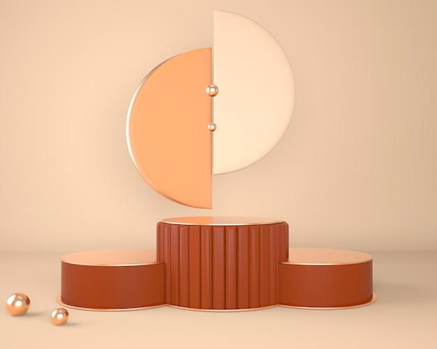 Formes géométriques abstraites de l'affichage du produit