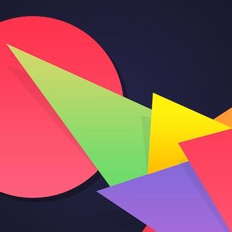 Formes multicolores sur fond sombre