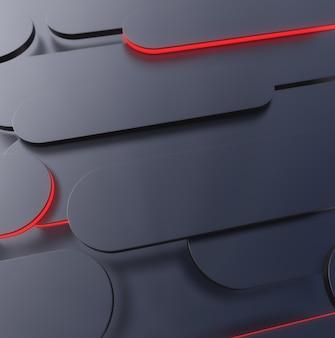 Formes sombres avec néon