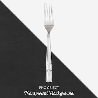 Fourchette en acier sur fond transparent