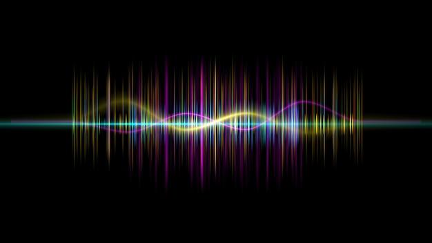 Fréquence audio musique égaliseur numérique
