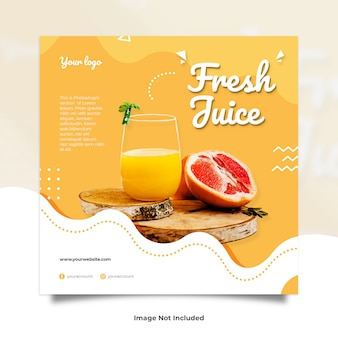 Fresh juice drink liquid memphis social media post