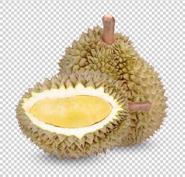 Fruit de durian isolé
